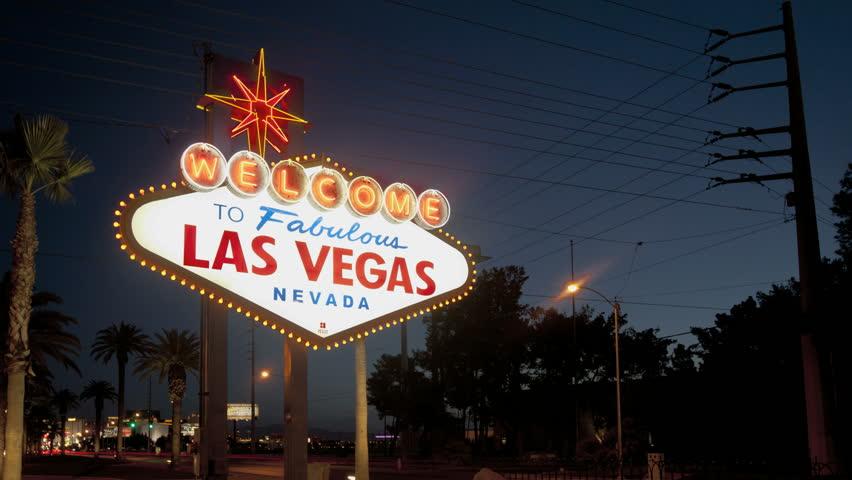 LAS VEGAS - MARCH 1: Timelapse of the sunrise at the famous Las Vegas