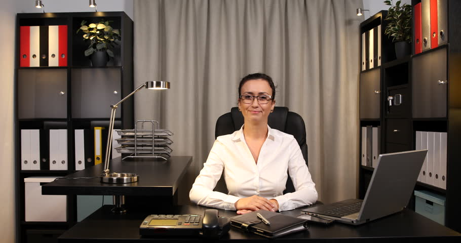 Disappointed Businesswoman Talk Phone Receiving Bad Sad News Office ...