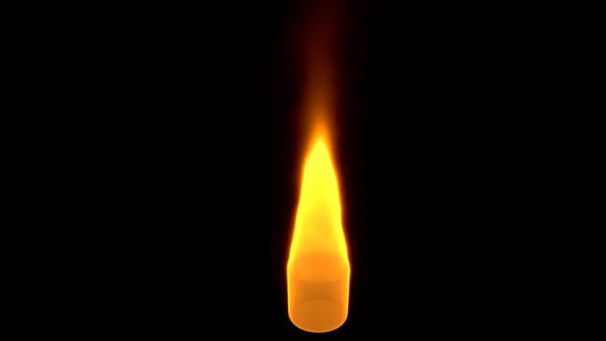 Rotating flame
