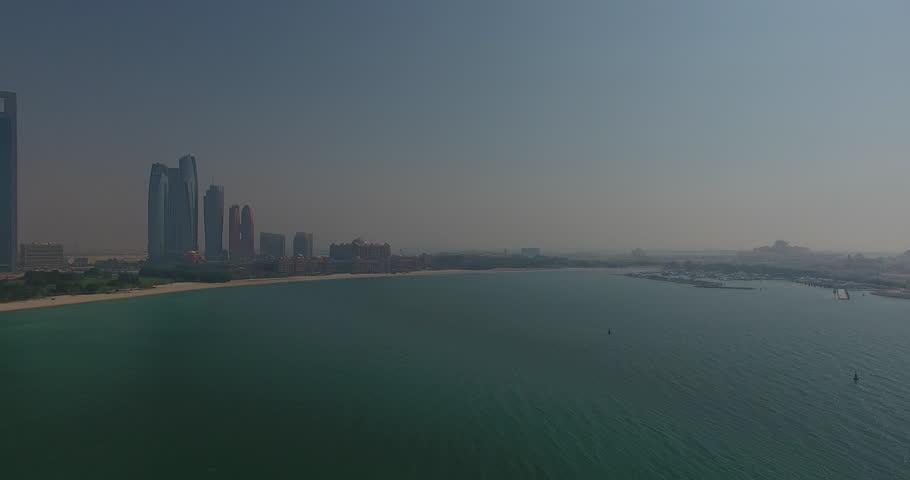 Abu Dhabi Skyline Panning
