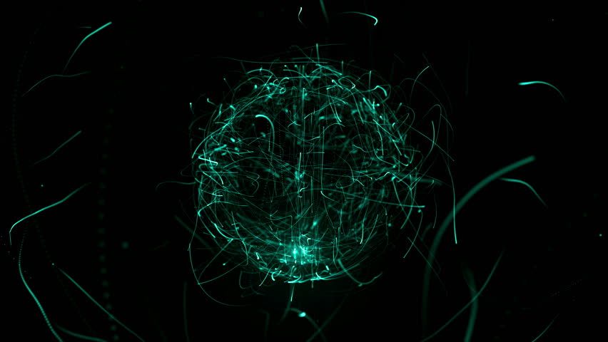 Colorful sphere in space with glowing particles. Abstract background. Loop video. Seamless. Beautiful background with particles. Isolated sphere on black background with particles | Shutterstock HD Video #22383682