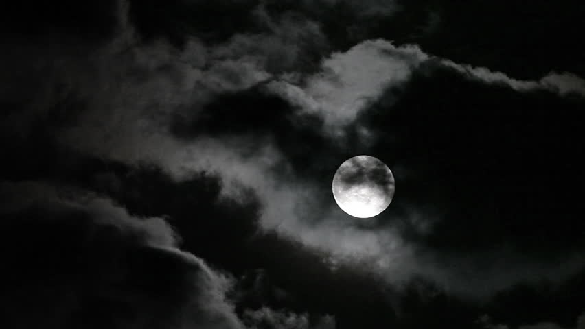 Clouds moving on moon, details on surface visible | Shutterstock HD Video #2242192