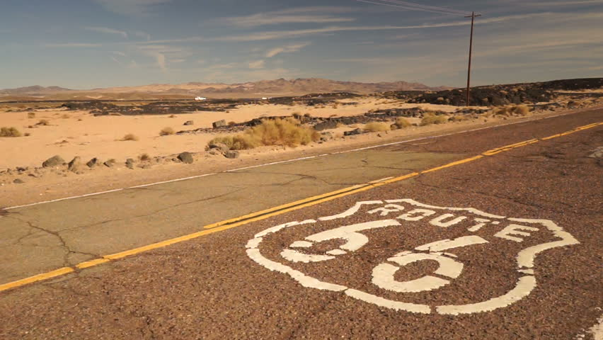 Rural Route 66 Two Lane Historic Highway Cracked Asphalt | Shutterstock HD Video #22436692