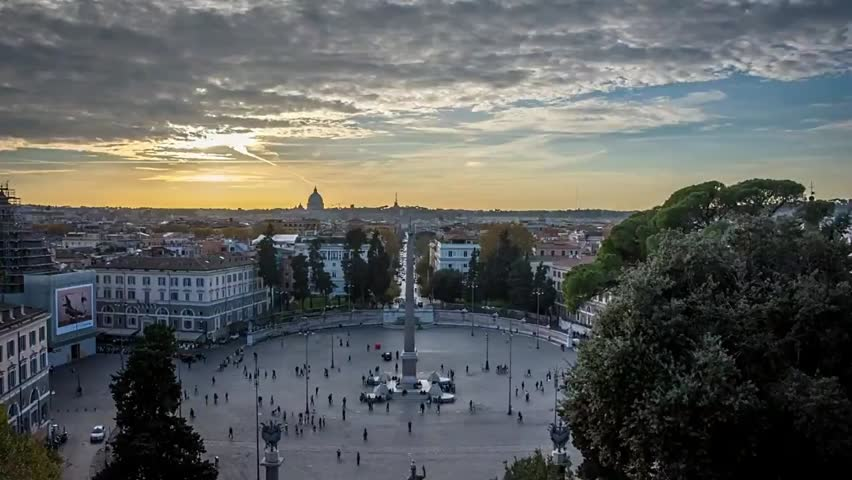 Sunset Timelapse Over Rome Italy Stock Footage Video 100 Royalty Free 22439752 Shutterstock