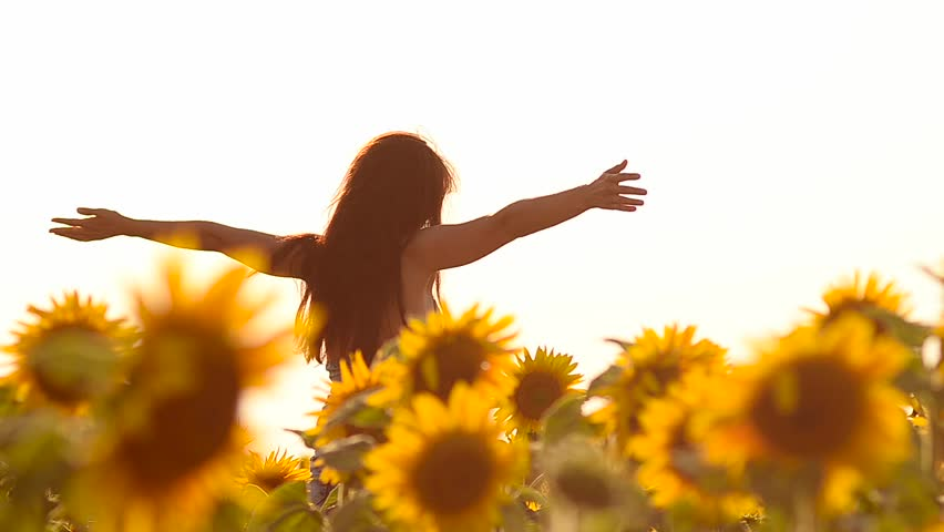 Image result for girl in a sunflower field