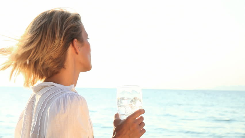 drinking fresh water outdoors