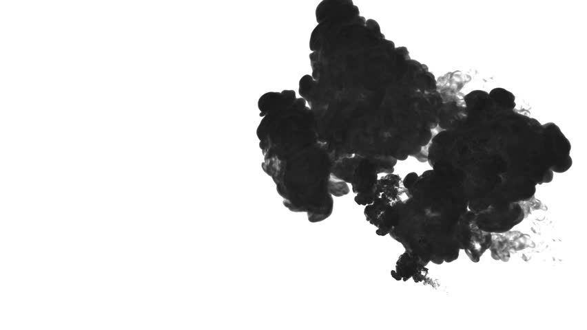 Black paint dissolved in water on a white background. 3d render. voxel graphics. computer simulation 2.. | Shutterstock HD Video #22488073