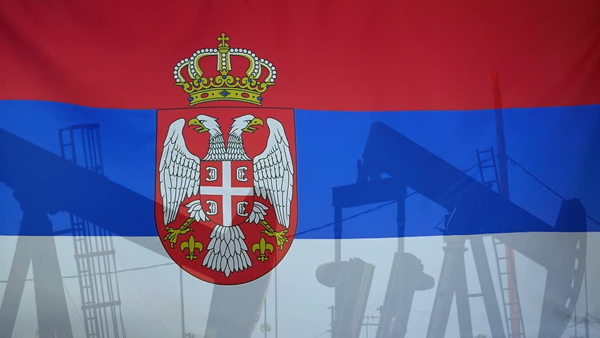 Textile Flag Of Serbia With Wind Blowing Though The Real Fabric ...