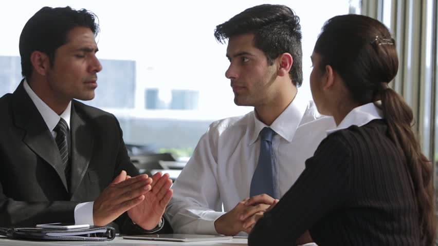 MS Colleagues talking in office / India | Shutterstock HD Video #22533472