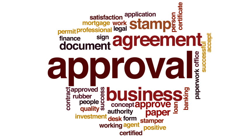 Approval Animated Word Cloud. Stock Footage Video 22722874