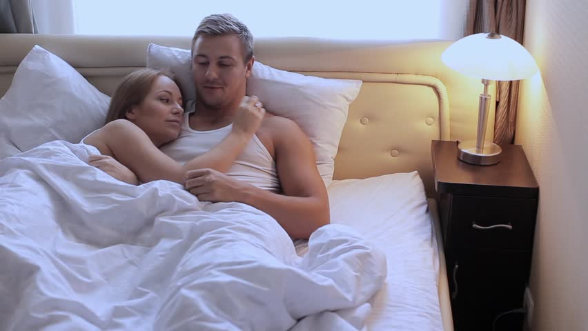 Young Beautiful Cute Couple Lying Stock Footage Video 100