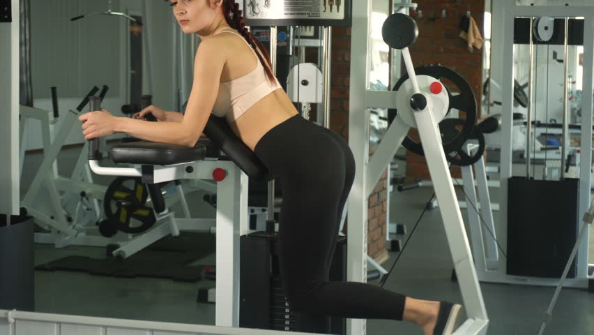 Woman doing exercise on her buttocks | Shutterstock HD Video #22585732