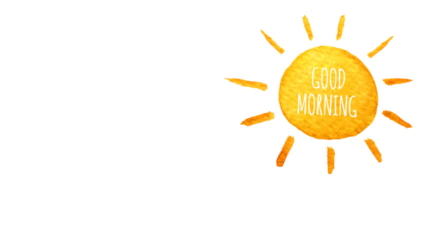 Cute Cartoon Sun Painted In Watercolor Good Morning Seamless Loop Animation Hand Drawn Illustration On Transparent Background PNG Plus Alpha Channel