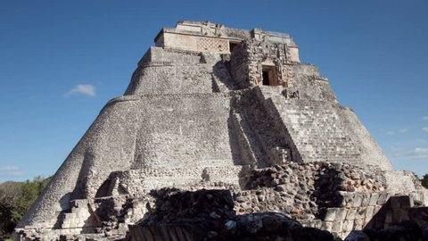 time-lapse of the mayan ruins at uxmal, mexico. the mayans believe that transformative events will occur on 21 december 2012