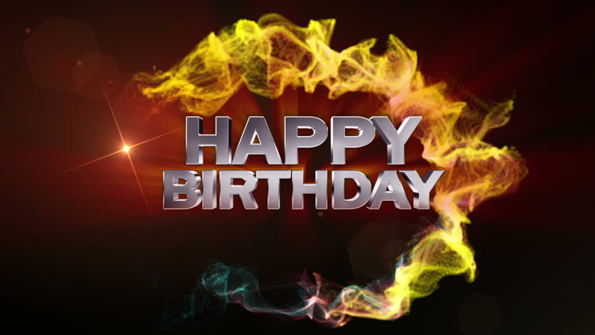 Happy Birthday Text in Particle