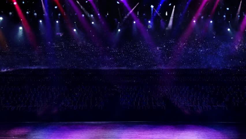 Concert of purple color spotlight  | Shutterstock HD Video #2274374