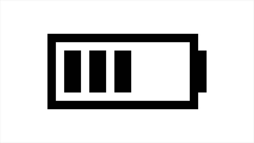 battery icon charging hd animation  stock footage video  100  royalty