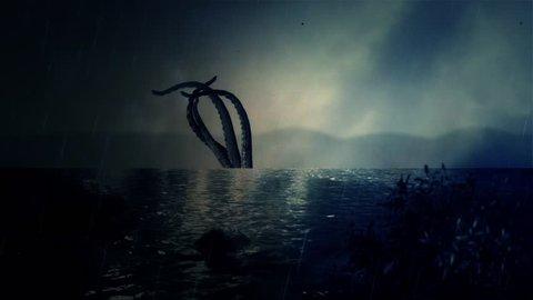Mythical Kraken Giant Squid Tentacles