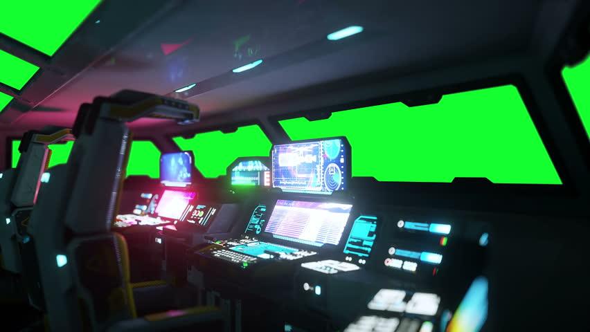 spaceship interior stock footage video shutterstock. Black Bedroom Furniture Sets. Home Design Ideas