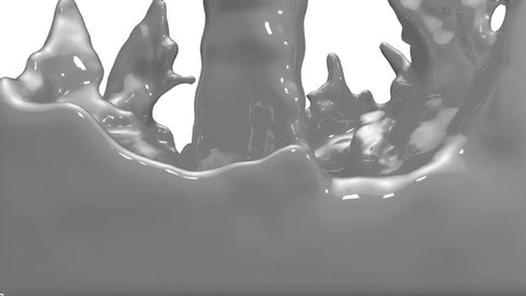Animated grey car paint pouring and filling up screen. Alpha channel is included use luma matte. 3D Render view 26