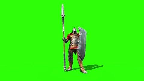 Centurion Roman Soldier Attack Lance Helmet Shield