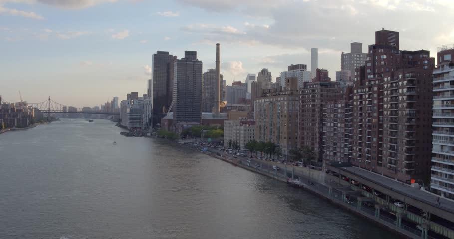 Hudson River Aerial Skyline | Shutterstock HD Video #22993672