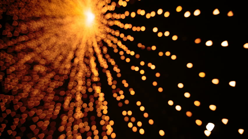 Yellow gold Christmas Lights. Christmas bright illuminations | Shutterstock HD Video #23004772