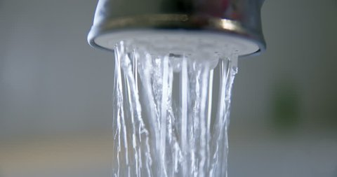 Hotel shower slowmotion