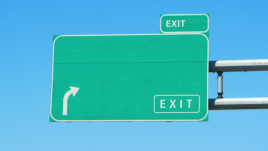 Highway Exit Sign Template 4K Blank Green ...