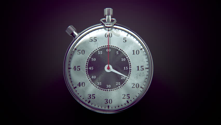 Vintage ticking chronometer (stopwatch) with animated arrows. Arrows rotates from 0 to 30 seconds. | Shutterstock HD Video #23118901