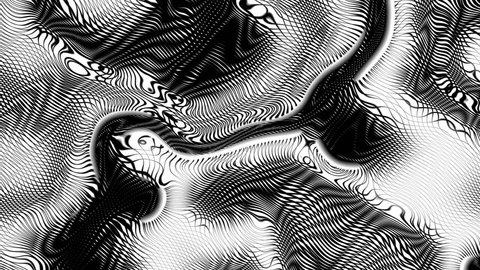 Engraving Black and White  Wavy Pattern   -   Abstract  Video Footage