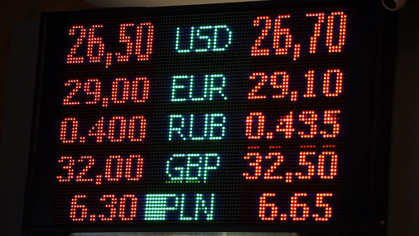 Led Screen With Currency Exchange Rates Financial Info Foreign