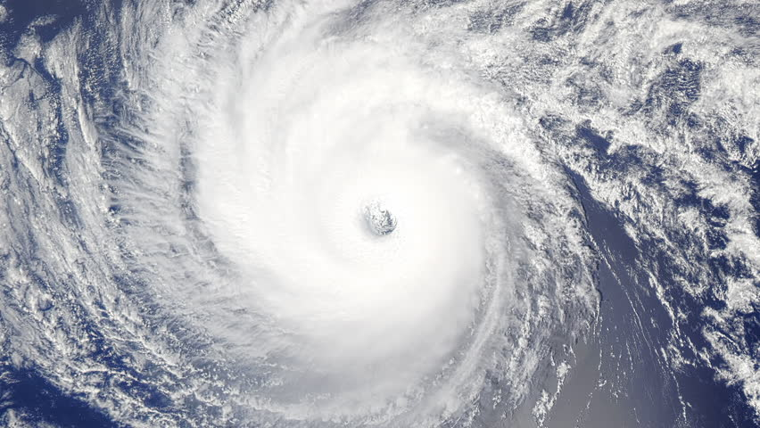 Closeup View Of Hurricane From Space Stock Footage Video ...