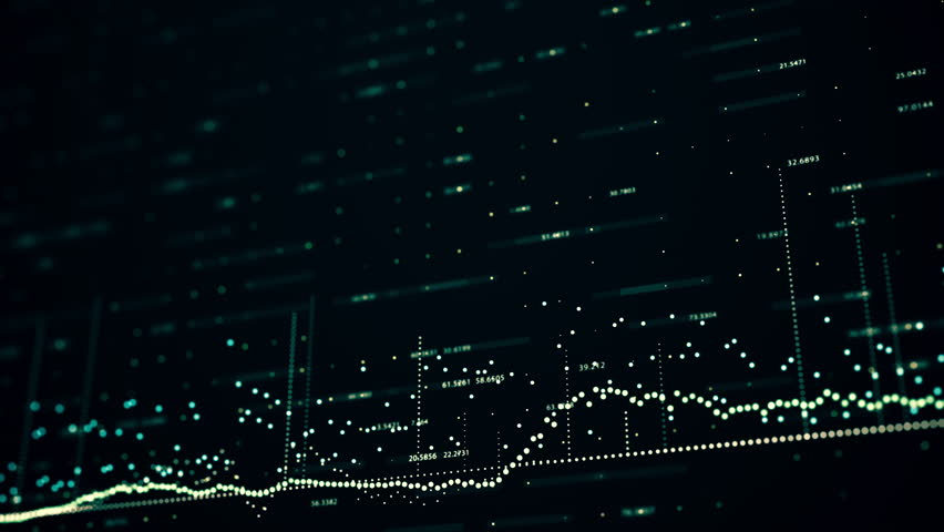 Abstract background with animation of growing charts and flowing counters of numbers with symbols of percent. Financial figures and diagrams showing increasing profits | Shutterstock HD Video #23282350