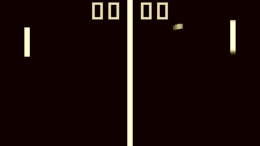 TV Tennis retro style game pixelated graphics sepia gray | Shutterstock HD Video #23306143