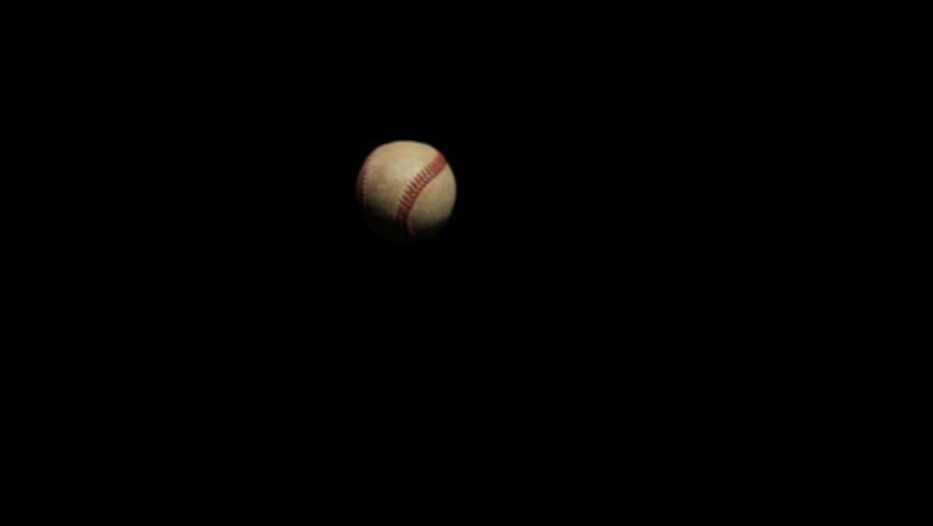 Baseball thrown at camera Super Slow Motion