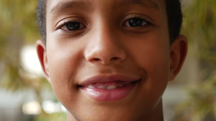 Brazilian kid smiling in slow motion #23449162
