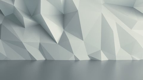 Abstract White Background Random Motion, 3d Loopable Animation 4k