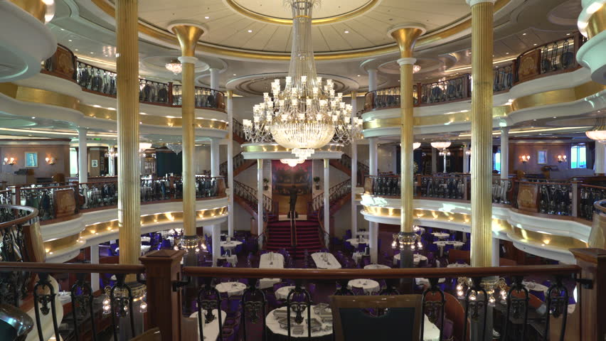 Beautiful And Luxury Fine Dining Restaurant Cruise Ship Room