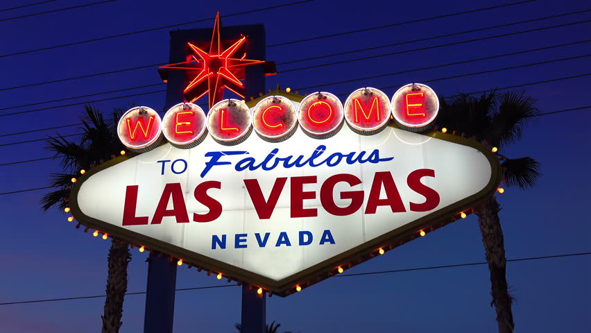 High quality video of welcome to fabulous Las Vegas Sign at night in 4K | Shutterstock HD Video #23489062