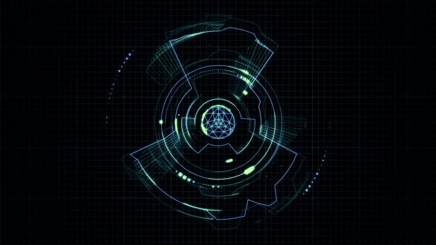 futuristic machine graphic overlay - 852×480