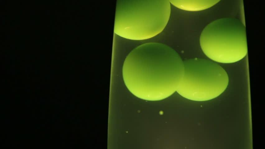 Lava Lamp, Green Bubbles   HD Stock Video Clip