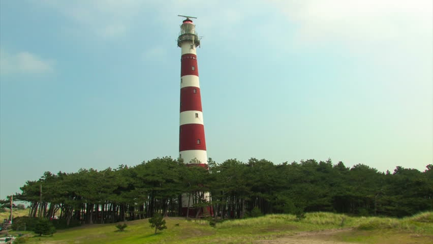 Red And White Striped Lighthouse On Ameland Ameland Is One Of The