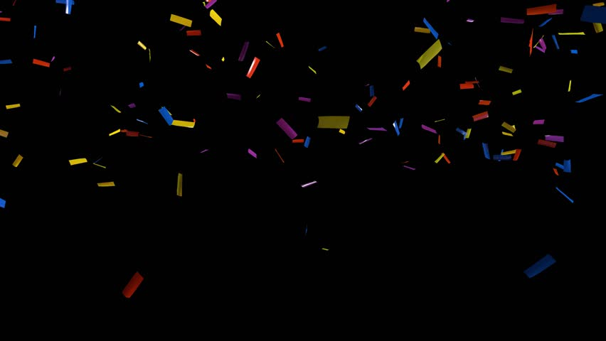 falling confetti on black background stock footage video