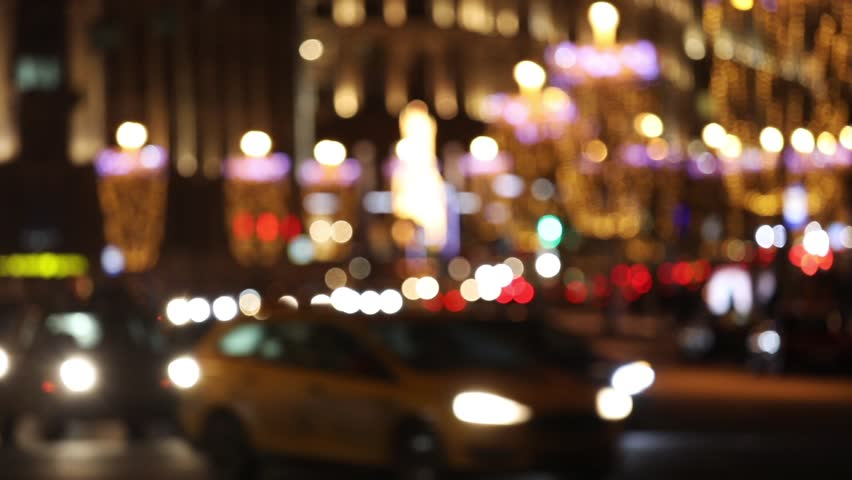Night city lights and traffic background. Out of focus background with blurry unfocused city lights | Shutterstock HD Video #23571430