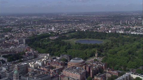 Looking West To Kensington Over Hyde Park And Albert Hall