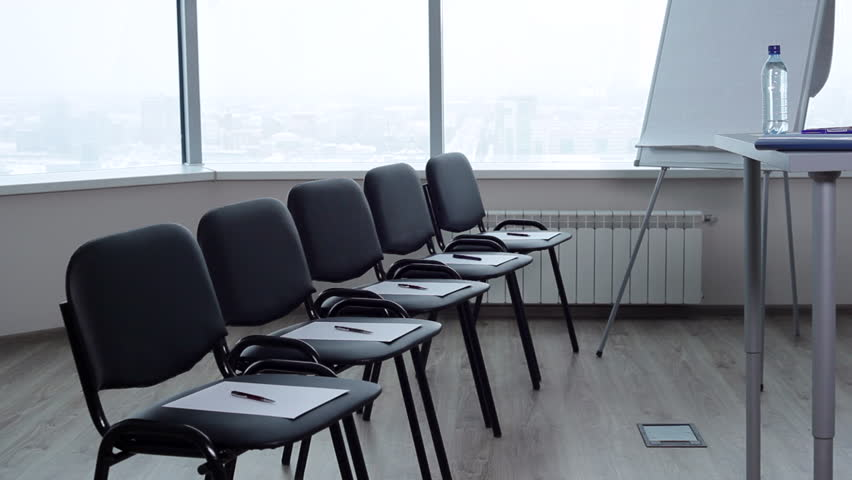 empty conference room waits for the to enter the room everything is ready for