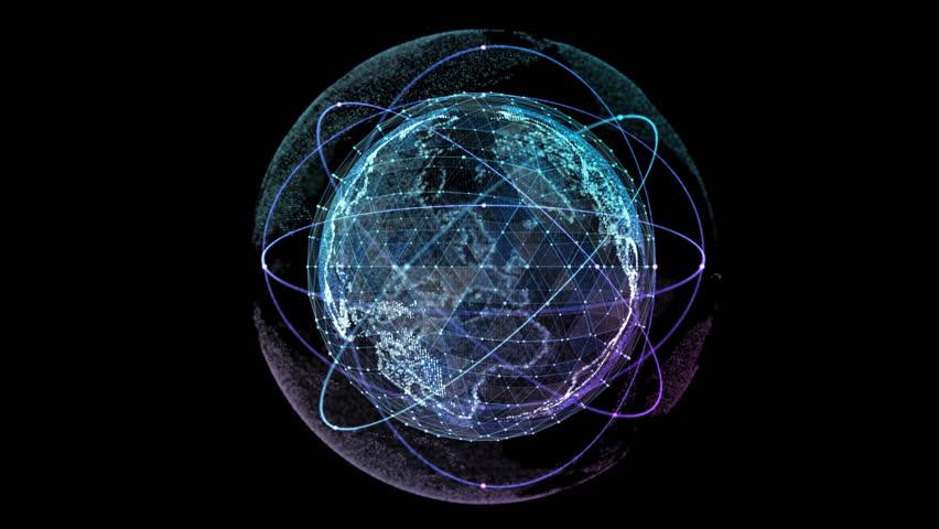 Internet global data cyberspace web communication eye catching light streaks circumnavigating - Cisco wallpaper 4k ...