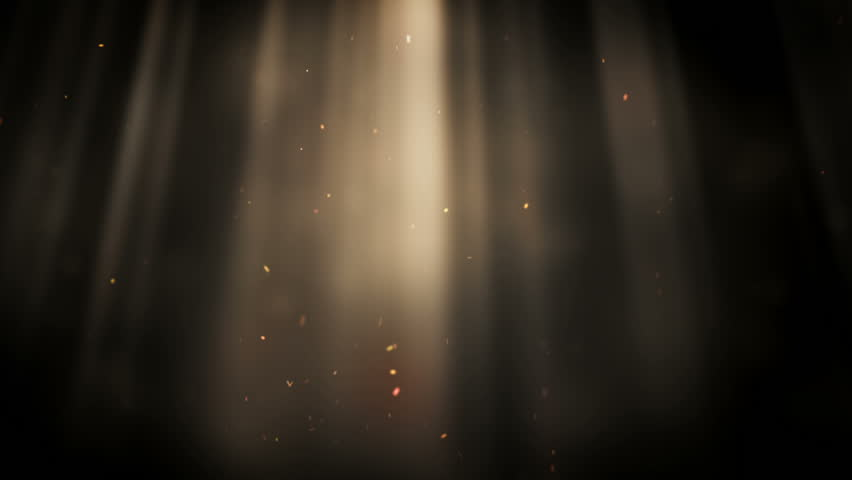 Looping Animation With Light Rays And Dust Particles Over