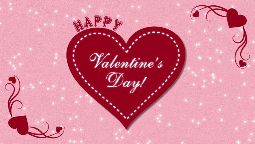 Digital Animation Of Happy Valentines Day Vector With Pink Hearts ...